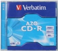 Verbatim Storage Media - CD-R - 52x 700 MB